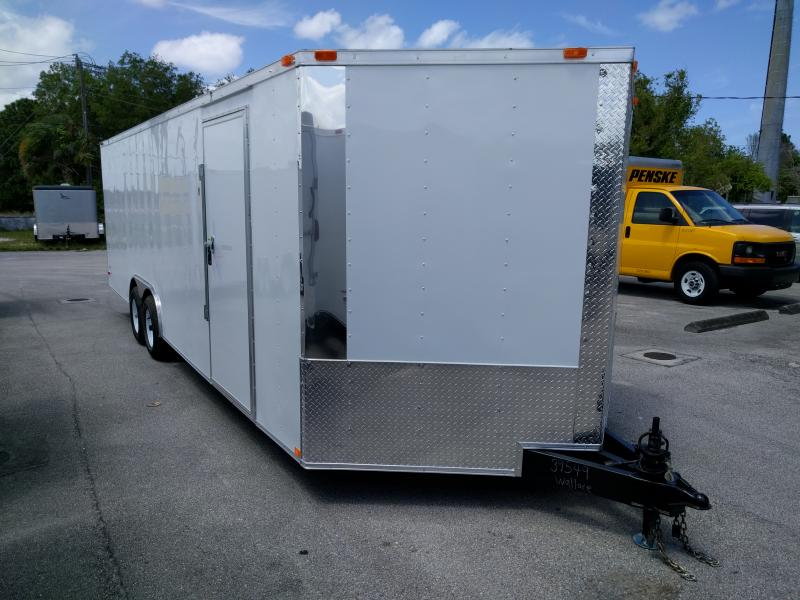24 ft v nose enclosed auto trailer